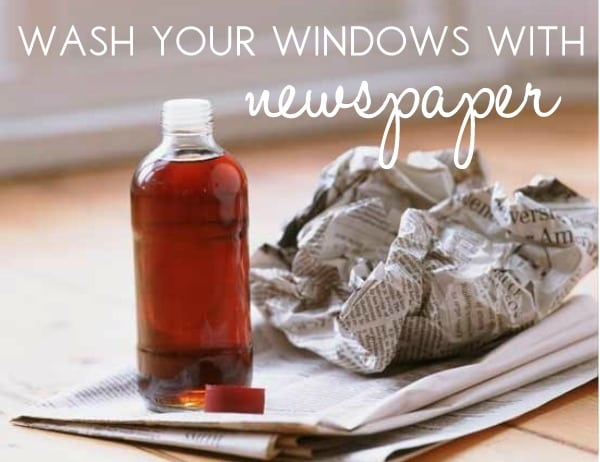 Clean Your Windows With Newspaper