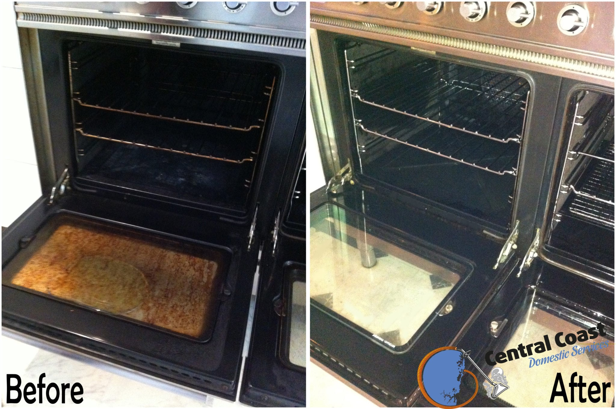 Oven Clean Before & After