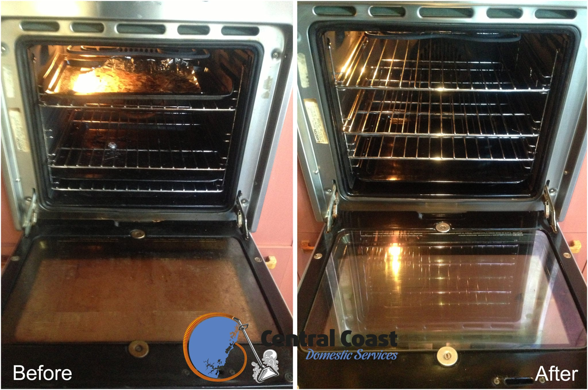 Oven Cleaning Before & After