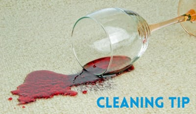 how to clean red wine