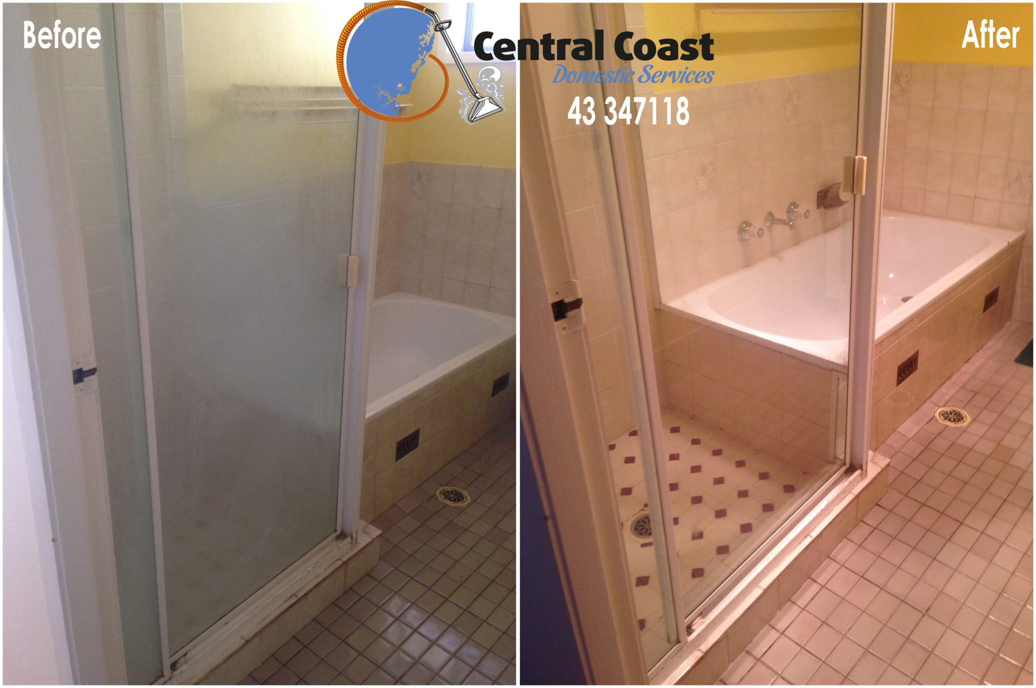 Shower screen Before & After