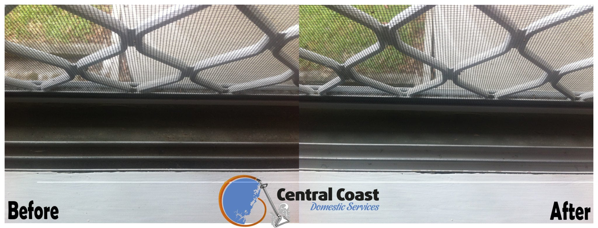 Window Tracks Before & After
