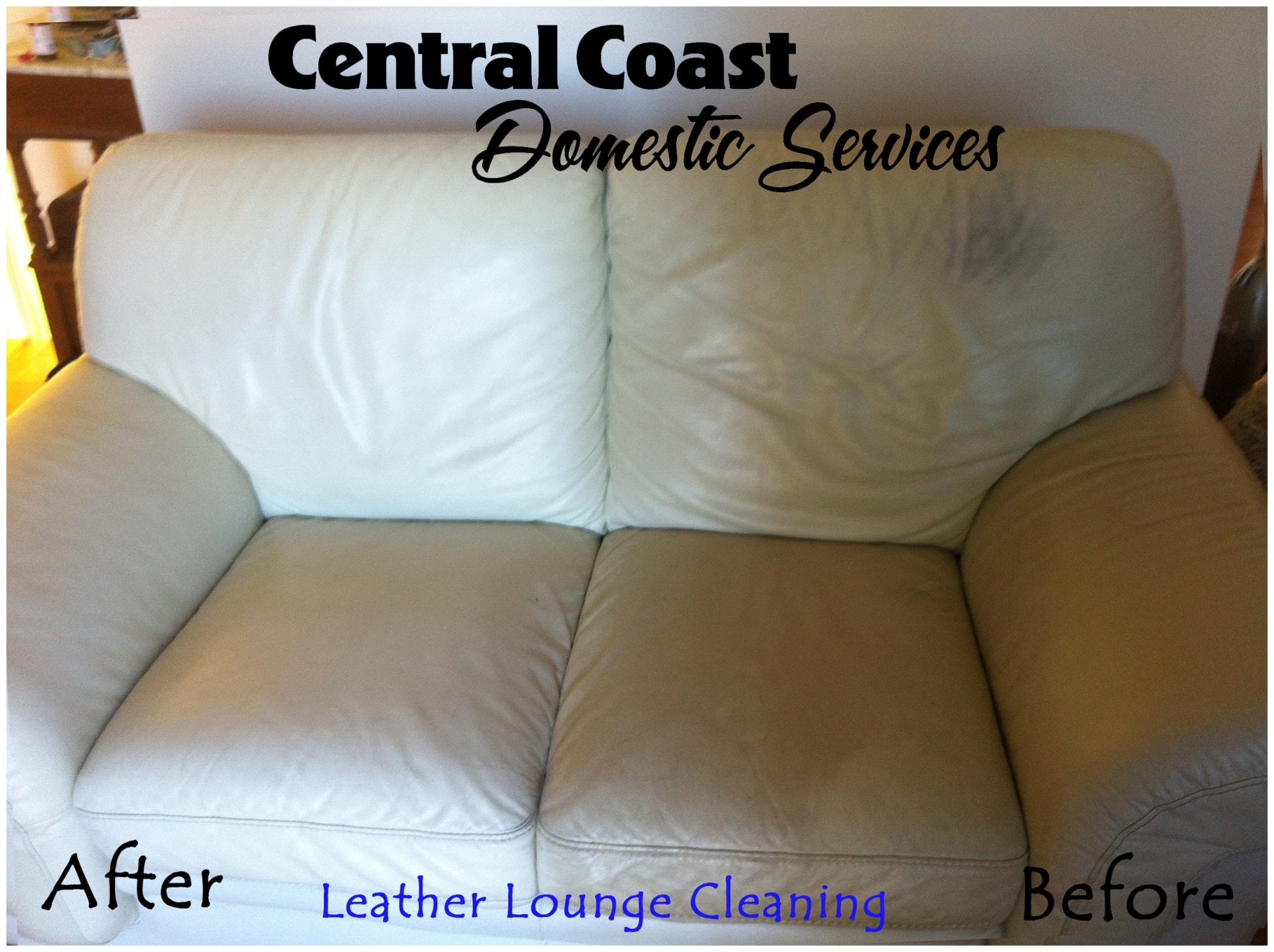 leather lounge before & after